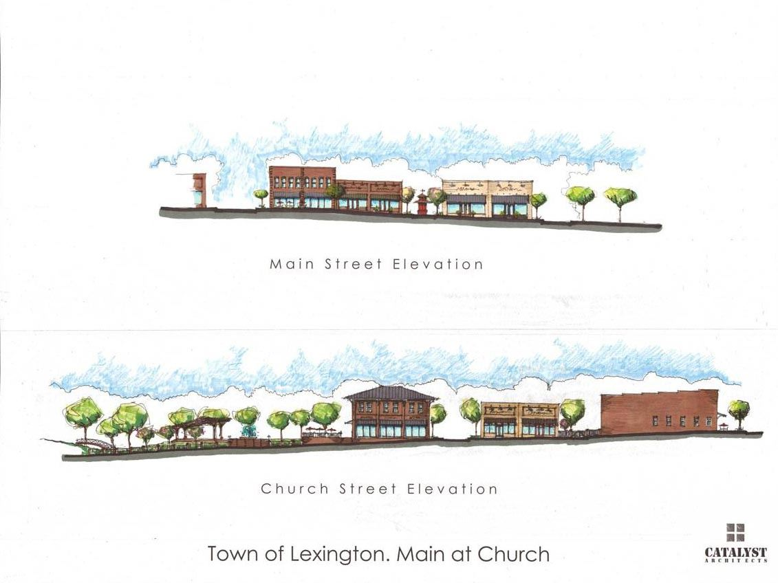 Artist Rendering of Street Elevation With Buildings