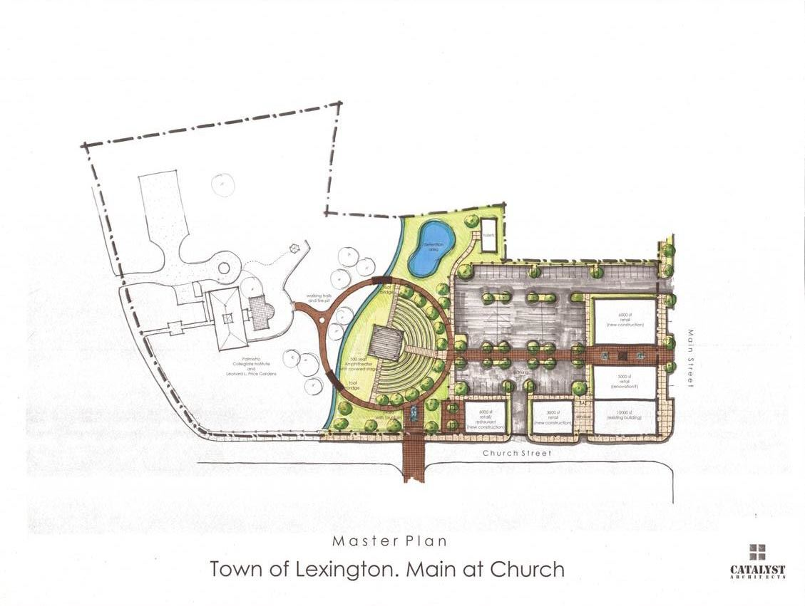 Town of Lexington, Main at Church Map